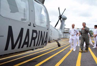 Estrena Semar helicópteros de rescate e intercepción